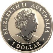 1 Dollar - Elizabeth II (6th Portrait - Emu - Silver Bullion Coin) -  obverse