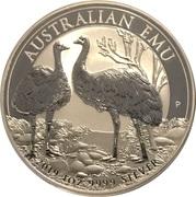 1 Dollar - Elizabeth II (6th Portrait - Emu - Silver Bullion Coin) -  reverse