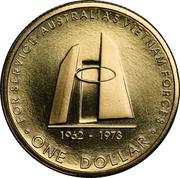 1 Dollar - Elizabeth II (4th Portrait - Australia's Vietnam Forces) -  reverse