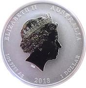 1 Dollar Elizabeth II (4th Portrait - Graduation) -  obverse