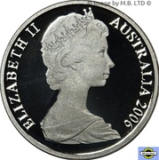 1 Cent - Elizabeth II (2nd portrait, Silver Proof) -  obverse