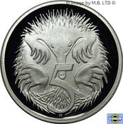5 Cent - Elizabeth II (2nd portrait, Silver Proof) -  reverse