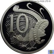 10 Cent - Elizabeth II (2nd portrait, Silver Proof) -  reverse