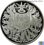 50 Cent - Elizabeth II (2nd portrait, Silver Proof) -  reverse
