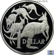 1 Dollar - Elizabeth II (2nd Portrait - Mob of Roos - Silver Proof) -  reverse