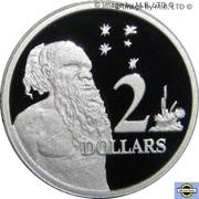 2 Dollars - Elizabeth II (2nd portrait, Silver Proof) -  reverse
