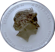 2 Dollars - Elizabeth II (4th Portrait - Year of the Dog) -  obverse