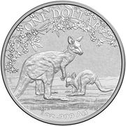 1 Dollar - Elizabeth II (4th Portrait - Kangaroo - Seasons Change) -  reverse