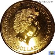 1 Dollar - Elizabeth II (4th Portrait - Year of the Monkey) -  obverse