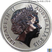 1 Dollar - Elizabeth II (4th Portrait - NRL - Moments That Matter - Colourised Silver Proof) -  obverse