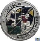 1 Dollar - Elizabeth II (4th Portrait - NRL - Moments That Matter - Colourised Silver Proof) – reverse