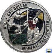 1 Dollar - Elizabeth II (4th Portrait - NRL - Moments That Matter - Colourised Silver Proof) -  reverse