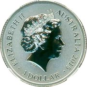 1 Dollar - Elizabeth II (4th Portrait - Alphabet Collection - Letter C - Silver Proof) -  obverse