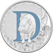 1 Dollar - Elizabeth II (4th Portrait - Alphabet Collection - Letter D - Silver Proof) -  reverse