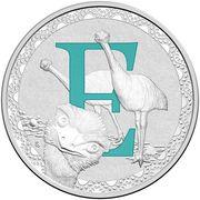 1 Dollar - Elizabeth II (4th Portrait - Alphabet Collection - Letter E - Silver Proof) -  reverse