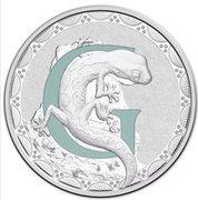 1 Dollar - Elizabeth II (4th Portrait - Alphabet Collection - Letter G - Silver Proof) -  reverse
