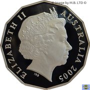 50 Cents - Elizabeth II (4th Portrait - Commonwealth Games Melbourne 2006) -  obverse
