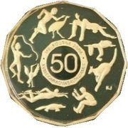 50 Cents - Elizabeth II (4th Portrait - Commonwealth Games Melbourne 2006) -  reverse