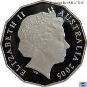 50 Cents - Elizabeth II (4th Portrait - Remembrance - End of World War II - Silver Proof) -  obverse