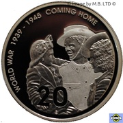 20 Cents - Elizabeth II (4th Portrait - Coming Home - End of WWII - Silver Proof) -  reverse