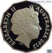 50 Cents - Elizabeth II (4th Portrait - Diamond Jubilee - Silver Proof) – obverse