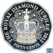 50 Cents - Elizabeth II (4th Portrait - Diamond Jubilee - Silver Proof) -  reverse