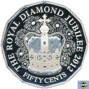 50 Cents - Elizabeth II (4th Portrait - Diamond Jubilee - Silver Proof) – reverse