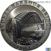 10 Dollars - Elizabeth II (3rd Portrait - Sydney Harbour Bridge) -  reverse