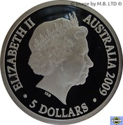 5 Dollars - Elizabeth II (4th Portrait - 200 Years of Postal Services in Australia - Silver Proof) -  obverse
