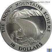 10 Dollars - Elizabeth II (4th Portrait - Snowy Mountains Alpine Lake) -  reverse