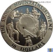 10 Dollars - Elizabeth II (4th Portrait - Snowy Mountains Tunnel in Construction) -  reverse