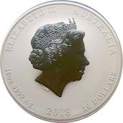 10 Dollars - Elizabeth II (4th portrait - Year of the Dog) -  obverse