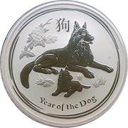 10 Dollars - Elizabeth II (4th portrait - Year of the Dog - Silver Bullion Coin) -  reverse