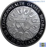 10 Dollars - Elizabeth II (2nd Portrait - XII Commonwealth Games) -  reverse