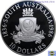 10 Dollars - Elizabeth II (3rd Portrait - South Australia) -  reverse