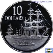 10 Dollars - Elizabeth II (3rd Portrait - First Fleet) -  reverse