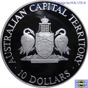 10 Dollars - Elizabeth II (3rd Portrait - Australian Capital Territory) -  reverse