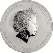 10 Dollars - Elizabeth II (4th Portrait - Year of the Pig) -  obverse