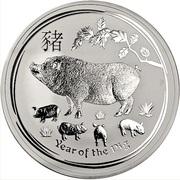 10 Dollars - Elizabeth II (4th Portrait - Year of the Pig) -  reverse