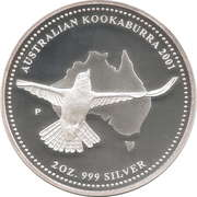 2 Dollars - Elizabeth II (4th Portrait - Australian Kookaburra) -  reverse