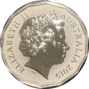 50 Cents - Elizabeth II (4th Portrait - Lunar Year of the Goat - Silver Proof) -  obverse