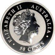 50 Cents - Elizabeth II (4th Portrait - Australian Outback Kangaroo) -  obverse