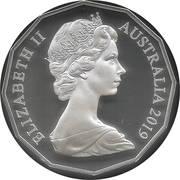 50 Cents - Elizabeth II (2nd portrait - Dodecagonal type - Silver Proof) -  obverse