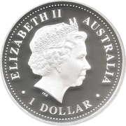 1 Dollar - Elizabeth II (4th Portrait - Sydney Harbour Bridge, Silver Proof) -  obverse