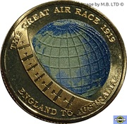 1 Dollar - Elizabeth II (4th Portrait - The Great Air Race - Globe) -  reverse