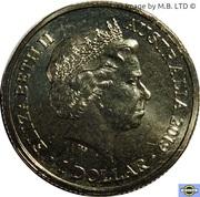 1 Dollar - Elizabeth II (4th Portrait - The Great Air Race - Caudron G4) -  obverse