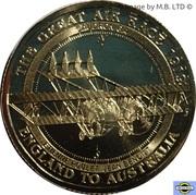 1 Dollar - Elizabeth II (4th Portrait - The Great Air Race - Caudron G4) -  reverse