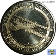 1 Dollar - Elizabeth II (4th Portrait - The Great Air Race - Airco DH9) -  reverse