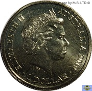 1 Dollar - Elizabeth II (4th Portrait - The Great Air Race - Vickers Vimy) -  obverse