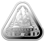 1 Dollar - Elizabeth II (6th Portrait - Batavia) -  reverse
